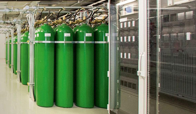 Stingere incendiu cu gaze inerte in camere tehnice
